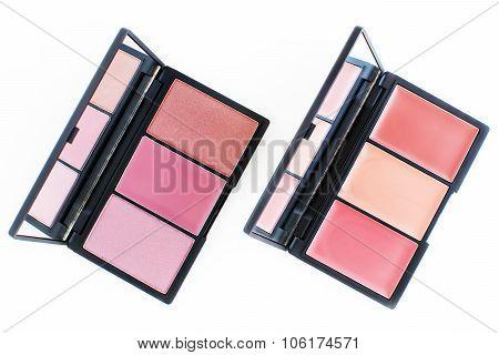 pink and orange tone creamy makeup blusher