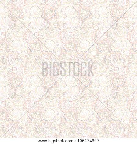 Seamless light gentle ornamental asian wallpaper