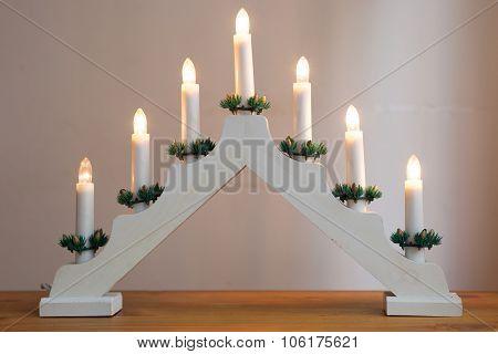 Candlestick Christmas Decoration