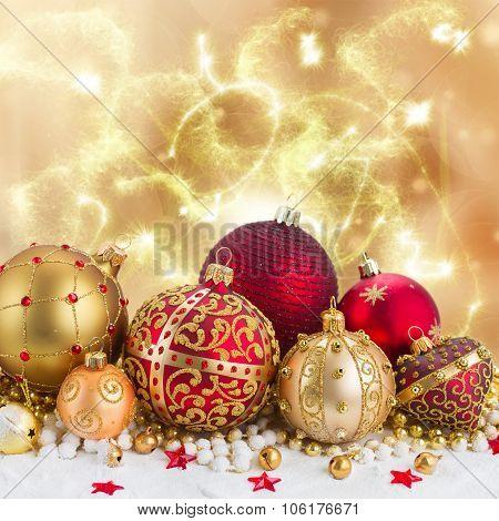 Pile of Christmas balls