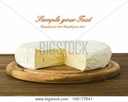 camembert cheese slice macro shot