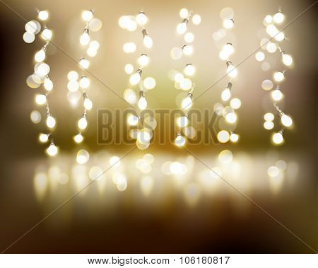 Light strings. Vector illustration.