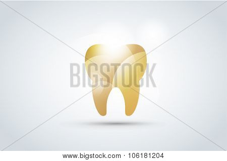 Tooth Icon vector logo template