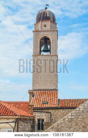 Old town of Dubrovnik, Croatia, clock tower and city walls