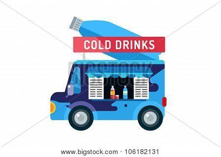 Water shop food car icon