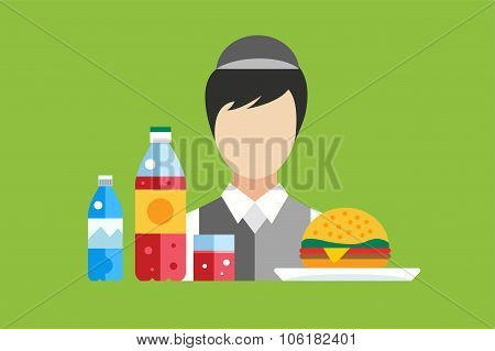 Fast food restaurant vector objects set