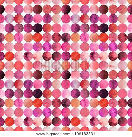Abstract watercolor pattern with circles