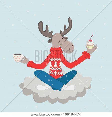 Elk On A Cloud