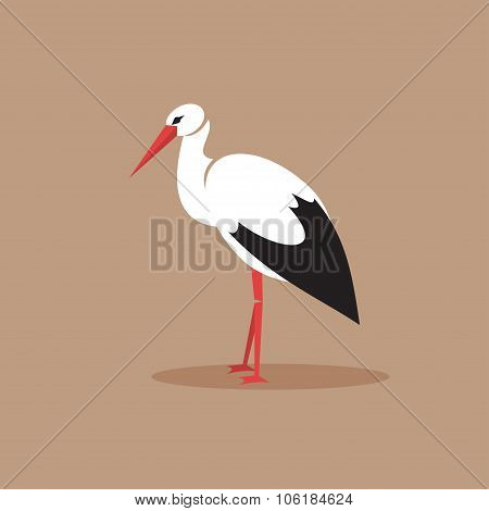 Stork. Vector Illustration