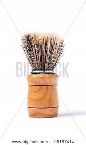 Old Shaving Brush Isolated On White Background