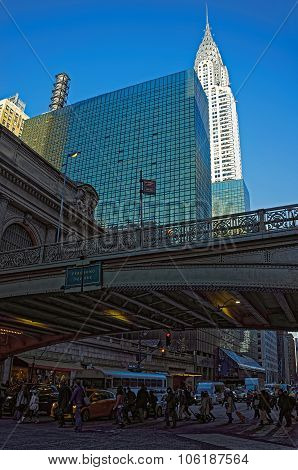 Bridge In Front Of Grand Central Terminal