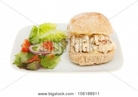 Crab Roll With Salad