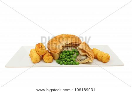 Chicken Pie And Vegetables