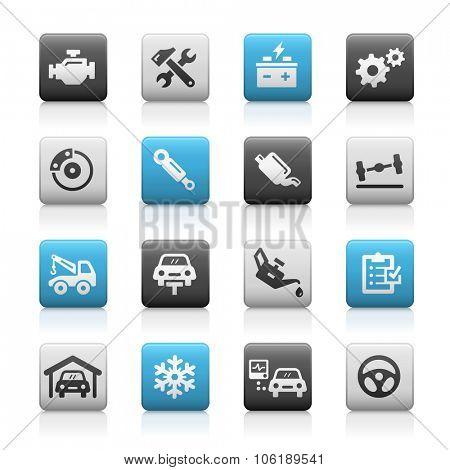 Car Service Icons // Matte Series