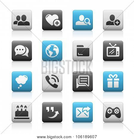 Social Communications Icons // Matte Series