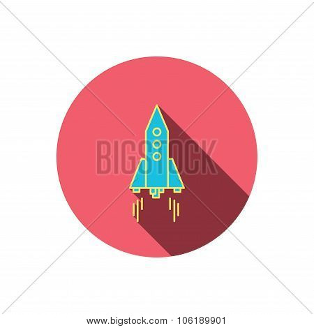 Rocket icon. Startup business sign.