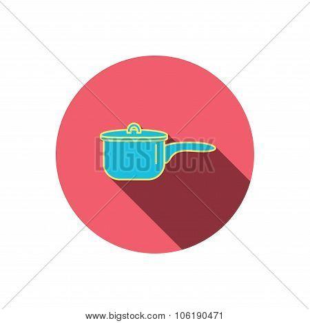 Saucepan icon. Cooking pot or pan sign.