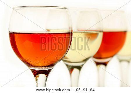 Rose And White Wine