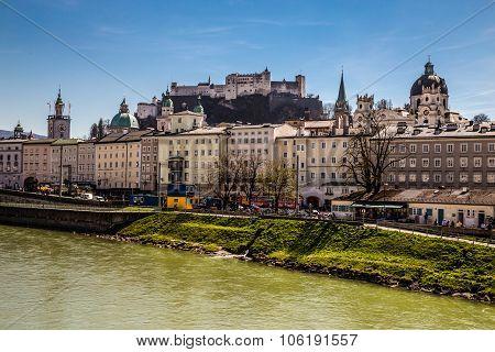 Salzburg Skyline,fortress,salzach River-austria