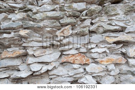 Gray Stone Wall As A Background
