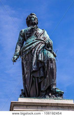 The Statue Of Mozart In Salzburg-austria,europe