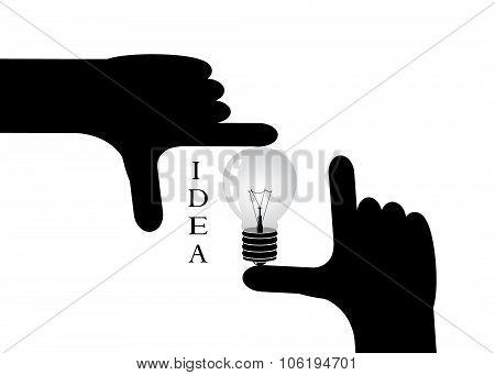 hand silhouette.