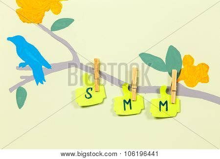 Writing Smm Text On Tree Trunk