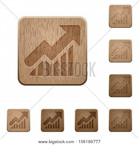 Graph Wooden Buttons