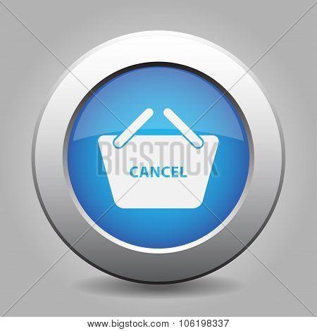 Blue Button Shopping Basket Cancel
