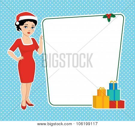 Christmas Brunette And Blank Board