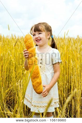 Girl With A Long Loaf