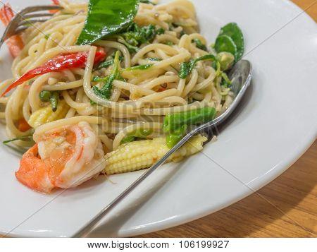 Spaghetti Sauce Drunken Shrimp,shrimp Focus