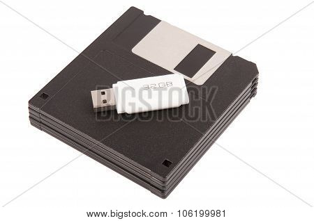 Diskette With Usb Memory