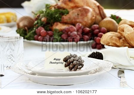 Thanksgiving Table Setting With Card