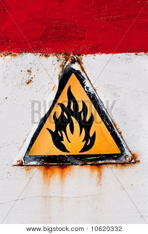 Feuer Warnung Zeichen