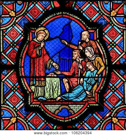 Charity - Stained Glass In Tours Cathedral