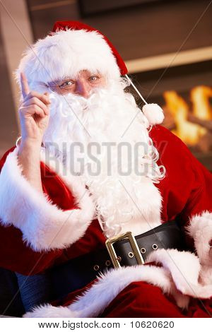 Santa Claus Raising Finger