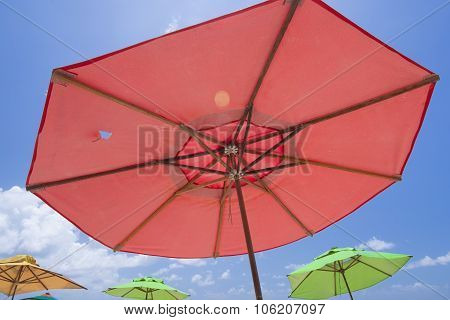 Colorful Brazilian Beach Umbrellas