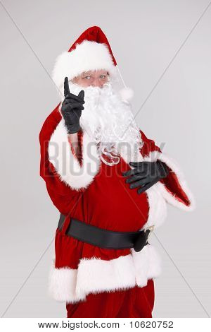 Santa Pointing Up With Finger