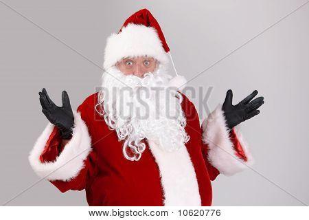 Portrait Of Surprised Santa Claus