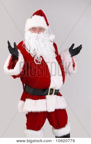 Portrait Of Surprised Santa Claus