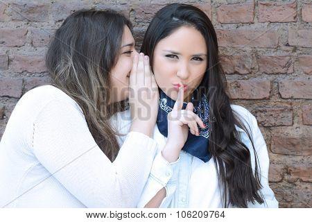 Two Friends Telling A Secret