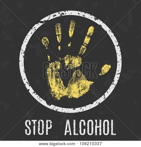Stop Alcohol Sign