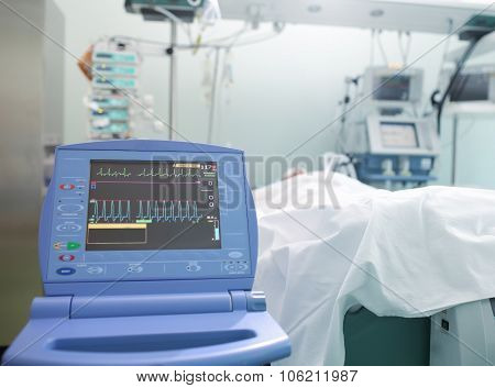 Monitoring Of Cardiac Function Unconscious Patient