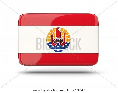 Square Icon With Flag Of French Polynesia