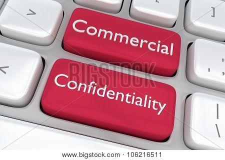 Commercial Confidentiality Button Concept
