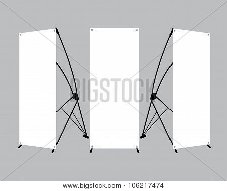 Set Of Blank X-stand Banners Display