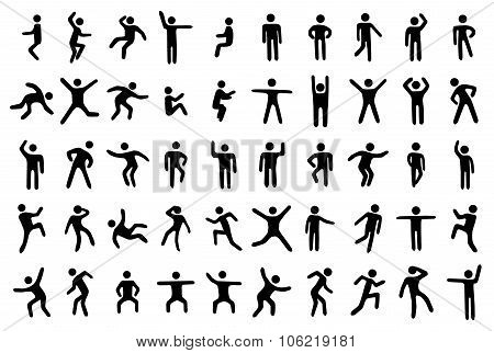 Stick figure set. Stick icons. Stick set. Stick icons vector. Stick icons art. Stick icons web. Stick icons shape. Stick icons isolated. Stick icons black. Stick icons simple. Stick icons illustration