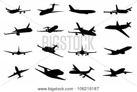Planes silhouette set. Planes silhouette icons. Planes silhouette signs. Planes icons. Planes icons web. Planes icons new. Planes icons art. Planes icons www. Planes icons app. Planes logo
