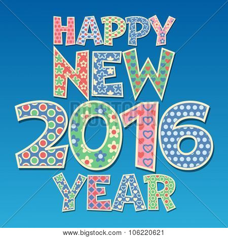 Vector  Happy new year greeting card with  redneck style text